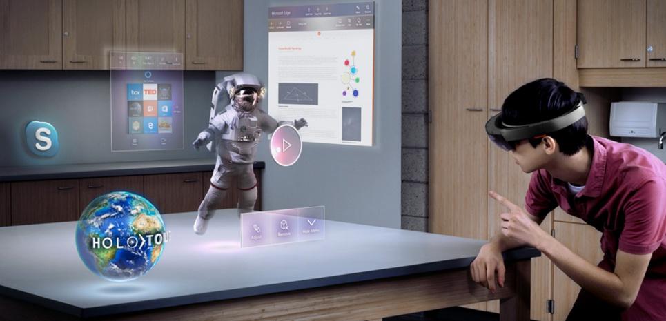 Des hologrammes tels qu'affichés par le casque HoloLens